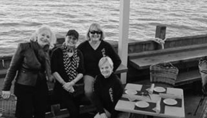 photo of cathy gildiner on boat with san francisco friends