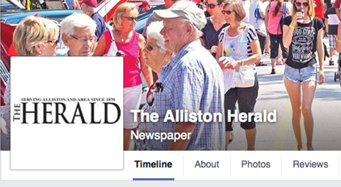 alliston herald facebook masthead