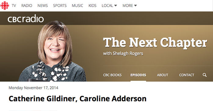 CBC Radio's The Next Chapter Podcast
