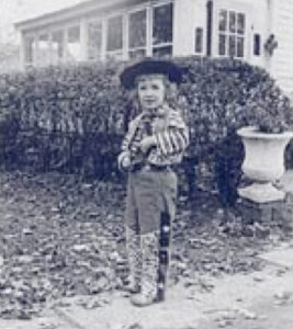 Catherine Gildiner, age 5 in cowboy suit