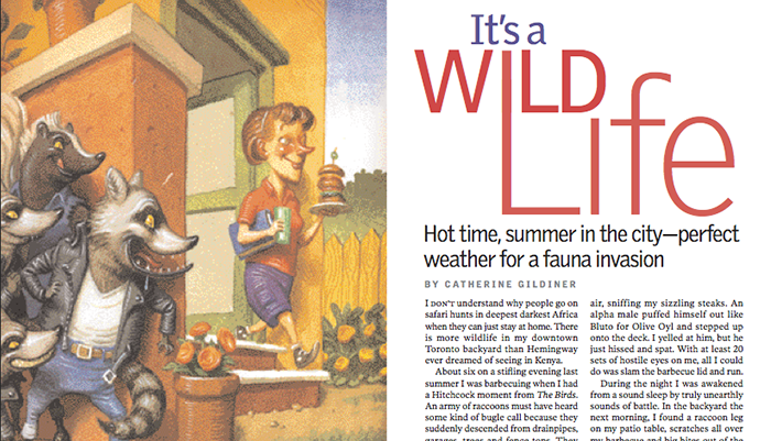 "My Article: Reader's Digest, ""It's a Wild Life"""